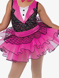 Girls Happy Feet Polka Dot Performance Tutu Skirt