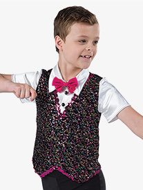 Boys Happy Feet Sequin Performance Top