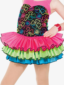 Girls Best Day Ever Neon Performance Tutu Skirt