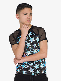 Mens Spacelab Star Print Performance Top