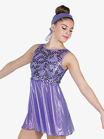 Womens My Hands Sequin Lace Performance Tank Dress