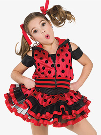 Girls Bug A Boo Polka Dot 2-Piece Dance Costume Set