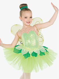 Girls Pixie Dust Fairy Tank Performance Tutu Dress