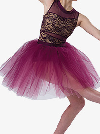 Womens I Try Romantic Performance Tutu Skirt