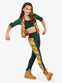 Womens Yur Girl Camouflage 2-Piece Dance Costume Set