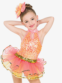 Girls Todays The Day Halter Performance Tutu Dress