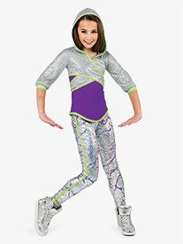 Girls Planet Mars Metallic 3-Piece Hip Hip Costume Set