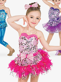 Girls Whistle Sequin Tank Performance Leotard