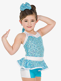 Girls Happy Two-Tone Performance Tank Leotard