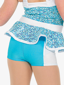 Girls Happy Two-Tone Performance Shorts