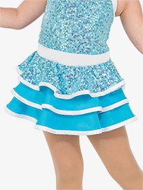 Girls Happy Layered Performance Skirt