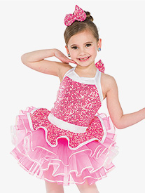Girls Happy Layered Performance Tutu Skirt