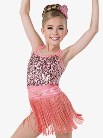 Girls Favorite Things Sequin Camisole Performance Leotard