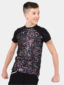 Boys Take Over Top Sequin Performance Top