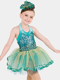 Girls Perfect Day Sequin Halter Performance Tutu Dress
