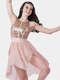 Womens Unconditionally Asymmetrical Tank Performance Dress