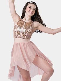Girls Unconditionally Asymmetrical Tank Performance Dress