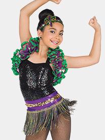 Womens Carnevale 2-Piece Performance Dance Costume Set