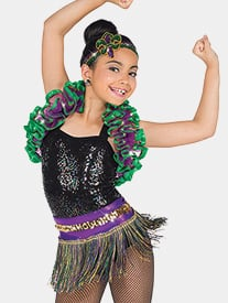 Girls Carnevale 2-Piece Performance Dance Costume Set