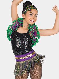 Girls Carnevale Iridescent Sequin Performance Leotard