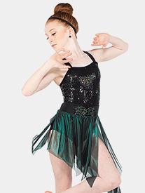 Womens Carnevale Foil Mesh Performance Skirt