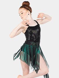 Girls Carnevale Foil Mesh Performance Skirt