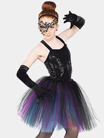 Girls Carnevale Mid-Length Performance Tutu Skirt