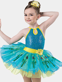 Girls Follow The Leader Glitter Flower Performance Tutu Dress