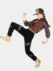 Girls Ridiculous 3-Piece Hip Hop Costume Set