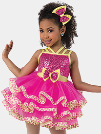 Girls Shake My Sillies Out Contrast Performance Tutu Dress