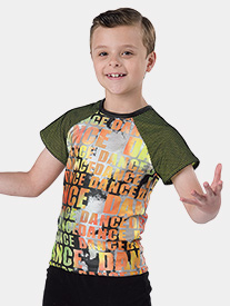 Boys Bad Man Tie-Dye Print Performance Top