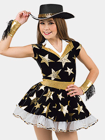 Womens Heart Of Texas Star Print Performance Tutu Dress