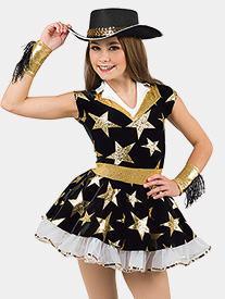 Girls Heart Of Texas Star Print Performance Tutu Dress