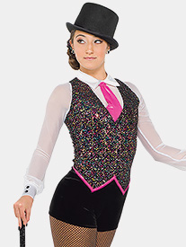 Womens Business of Love Sequin Performance Shorty Unitard