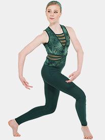 Womens In Flux Tie-Dye Tank Performance Unitard