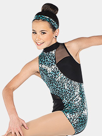 Girls Girlz Asymmetrical Tank Performance Shorty Unitard