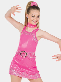 Girls I Want To Be Free Neon Performance Dress