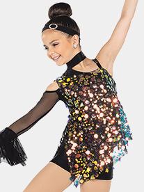Girls Lockdown 2-Piece Sequin Dance Costume Set