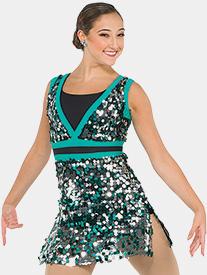 Girls New Dorp Sequin Performance Tank Dress