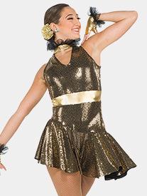 Womens Greedy Slinky Sequin Performance Dress