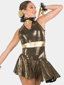 Girls Greedy Slinky Sequin Performance Dress