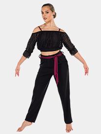 Womens Sassy Style 3-Piece Dance Costume Set
