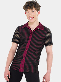 Mens Sassy Style Striped Performance Short Sleeve Top