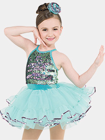 Girls Easy Going Sequin Camisole Performance Tutu Dress