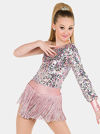 Girls Me Sequin Asymmetrical Performance Dress