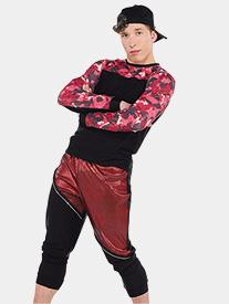 Mens Clout 2-Piece Hip Hop Dance Costume Set