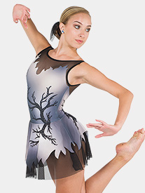 Womens Oh My My Rhinestone Sublimated Performance Dress