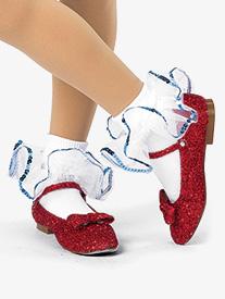 Girls Ease On Down Performance Cotton Socks