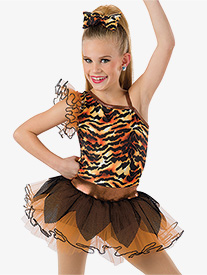 Girls Cant Be Tamed Tiger Performance Tutu Dress