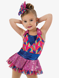 Girls Jump Start Psychedelic Performance Tutu Dress